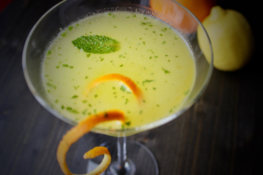 orange lemon mint martini