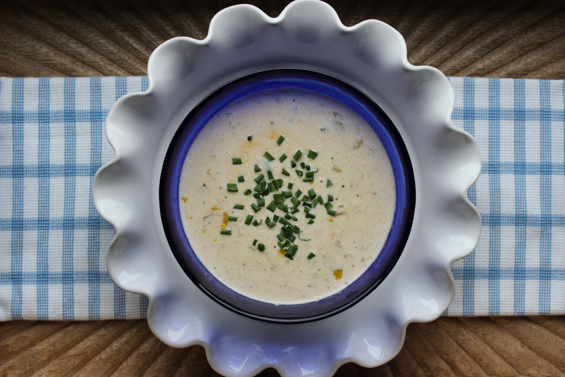 creamy blue crab soup